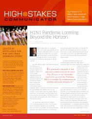 High Stakes Bulletin 11-04-09