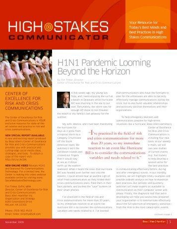 High Stakes Bulletin 11-04-09