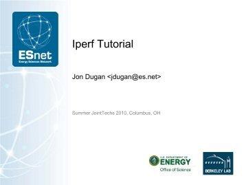 Iperf Usage Tutorial - Energy Sciences Network