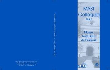 MAST Colloquia 7 - Museu de Astronomia e Ciências Afins