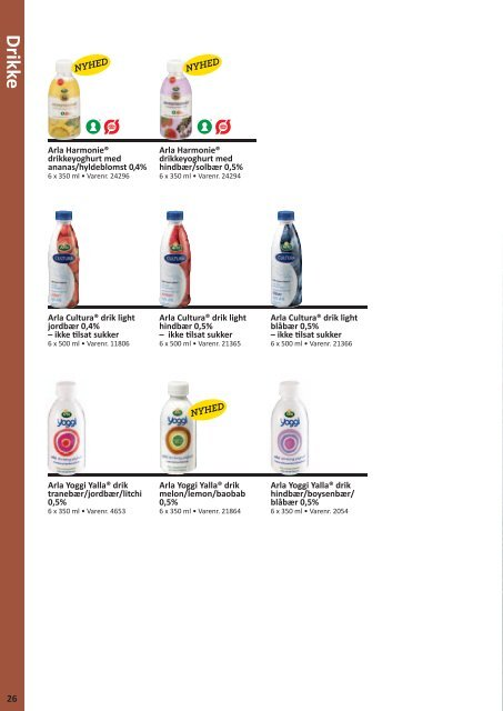 Hent produktkataloget her - Arla Foodservice