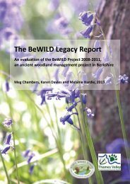 The BeWILD Legacy Report - North Wessex Downs Area of ...