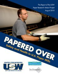 Papered Over: Safety and Health in US Paper Mills - United ...