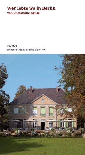 Wer lebte wo in Berlin - Random House