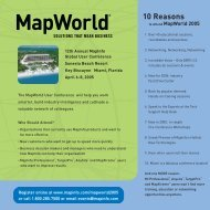 10 Reasons - MapInfo