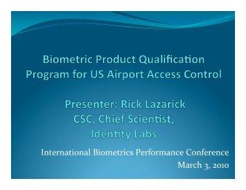 Biometric Product