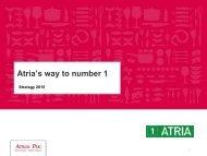 Atria's way to number 1 - Atriagroup.com