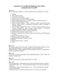 Usnesení z 11. zasedání Zastupitelstva obce Tršice, konaného dne ...