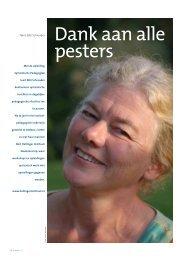 Dank aan alle pesters - Bert Hellinger Instituut Nederland