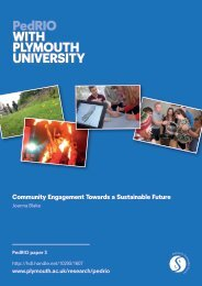 Community Engagement Towards a Sustainable Future - Plymouth ...