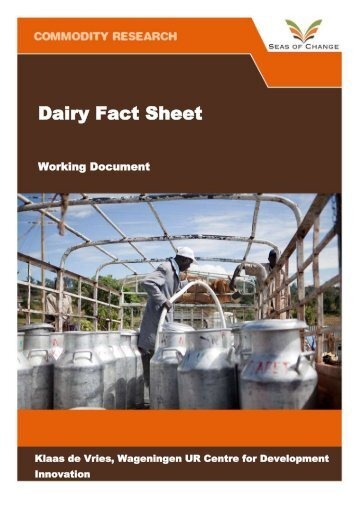 Download the dairy fact sheet. - Seas of Change Initiative