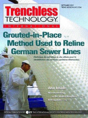 Author: Professor, Dr. Dietrich Stein - TrenchlessOnline