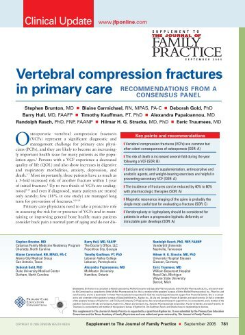 Vertebral compression fractures in primary care - The Journal of ...