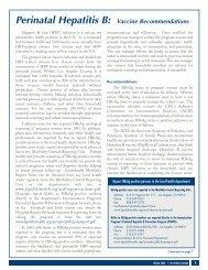 Perinatal Hepatitis B: Vaccine Recommendations - Department of ...