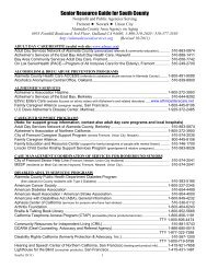 Senior Resource Guide for South County - Alameda County Social ...