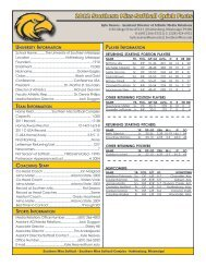 2012 Southern Miss Softball Quick Facts