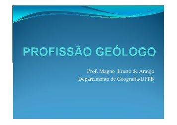 Mostra de Profissões: Geólogo - Quimica.ufpb.br