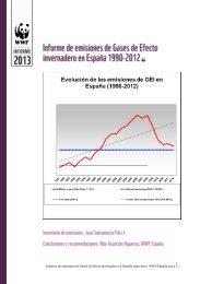 Informe de emisiones de Gases de Efecto invernadero en ... - WWF