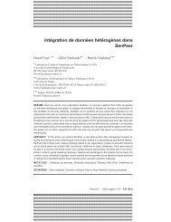 Intégration de données hétérogènes dans SenPeer