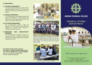 ATC General Brochure[1].pdf - Arusha Technical College