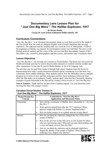Documentary Lens Lesson Plan for The White Ship Curriculum ...