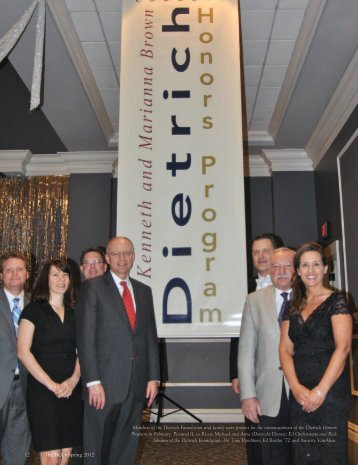 12 The Bell • Spring 2012 Members of the Dietrich ... - Thiel College