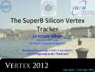 The SuperB Silicon Vertex Tracker - Vertex 2012