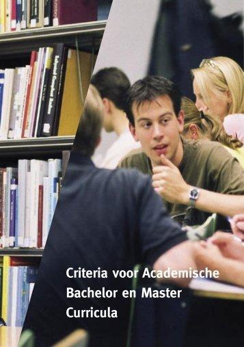 Criteria voor Academische Bachelor - Universiteit Twente