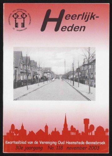 LJeerlijk # weden - Historische Vereniging Heemstede-Bennebroek
