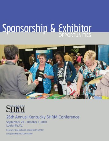 2010 KY SHRM CONFERENCE Exhibitor & Sponsor Application ...