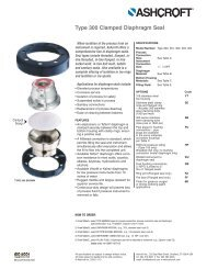Type 300 Clamped Diaphragm Seal - Temp-Press Inc