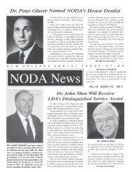 Dr. Peter Glaser Named NODA's Honor Dentist - New Orleans ...