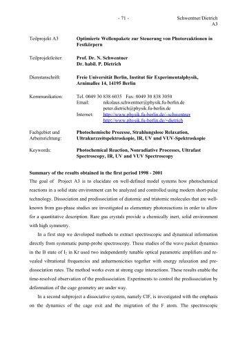 - 71 - Schwentner/Dietrich A3 Teilprojekt A3 Optimierte ...