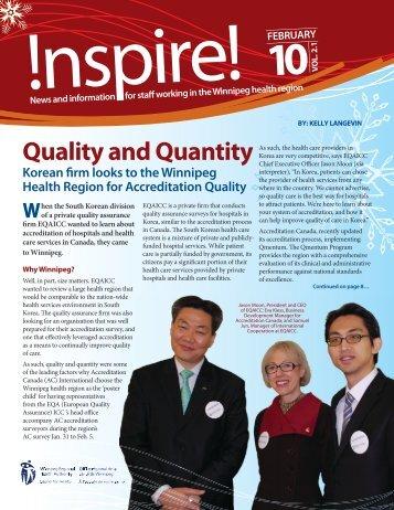 Inspire! February 2010 - Winnipeg Regional Health Authority