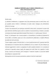 GUIDA AI SERVIZI della CLINICA VESUVIO s.r.l. www ...