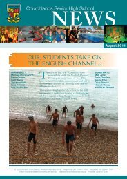 our students take on the english channel... - Churchlands Senior ...