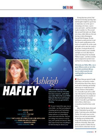 Ashleigh HAFLEY - Clay Shooting USA