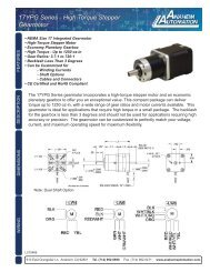 17YPG Series Stepper Planetary Gear Motor (Spec Sheet)