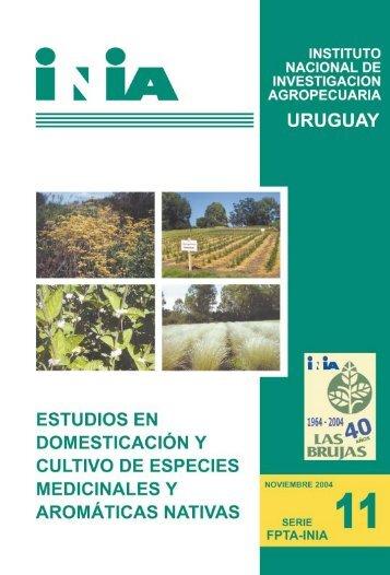 Estudios en domesticación y cultivo de especies medicinales - Actenz