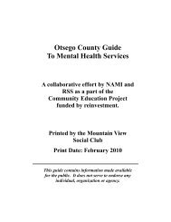 Otsego County Guide To Mental Health Services - Otsegocep.org