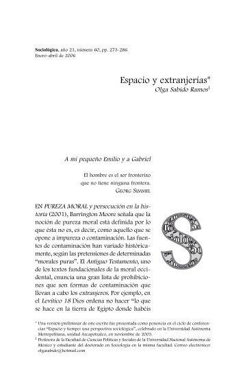 Olga Sabido Ramos - Revista Sociológica