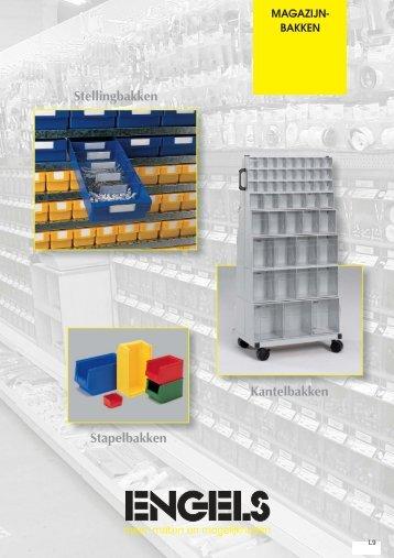 Kunststof magazijnbakken - Engels Logistics