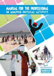 Manual for the professional in Adapted Physical Activity - Australian ...