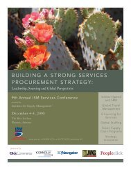 Building a Strong ServiceS Procurement Strategy: - Institute for ...