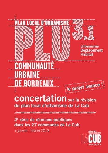 PLAN LOCAL D'URBANISME - Participation de la CUB et de ses ...