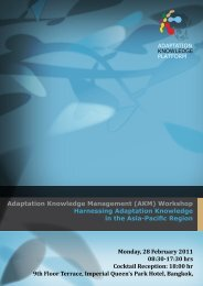 Information Pack - Regional Climate Change Adaptation Knowledge ...