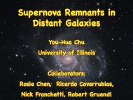 Supernova Remnants in Distant Galaxies - asiaa