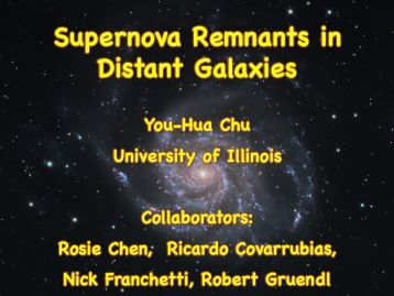 Supernova Remnants in Distant Galaxies - asiaa