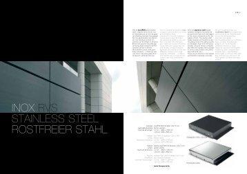 INOX RVS STAINLESS STEEL ROSTFREIER STAHL - Limeparts