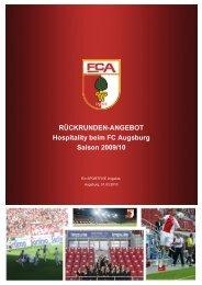 RÜCKRUNDEN-ANGEBOT Hospitality beim FC ... - B4B SCHWABEN